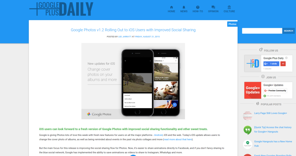 Google Plus Daily